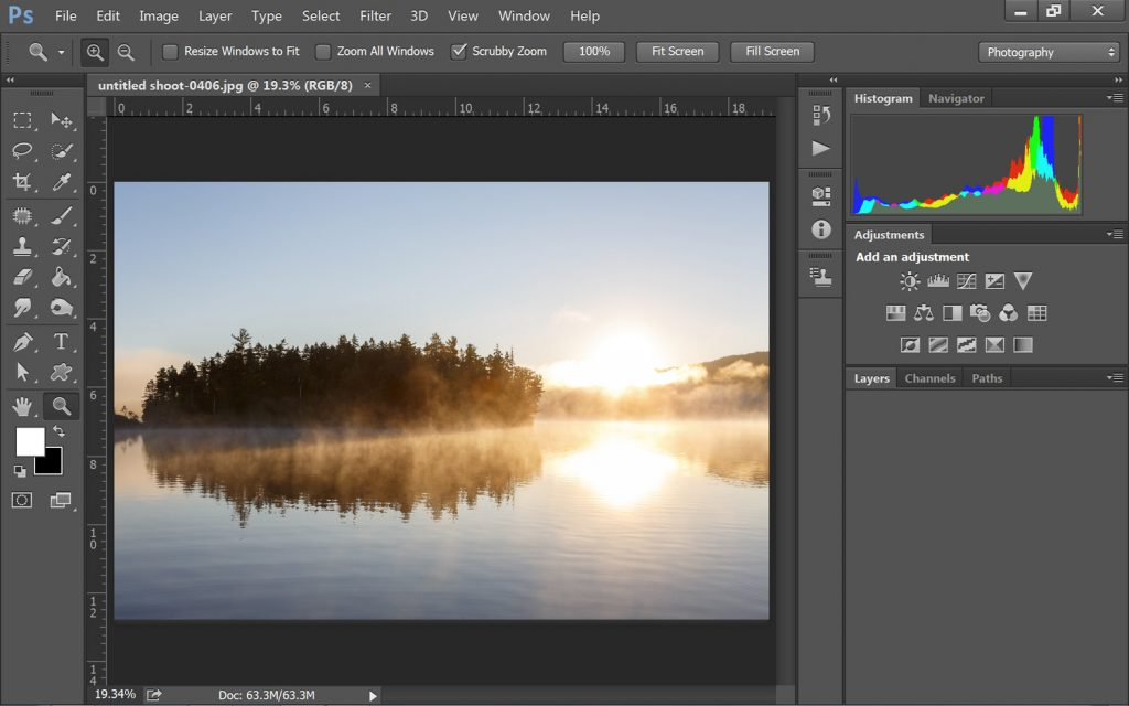 adobe photoshop image editor screenshot