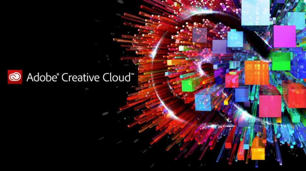 adobe creative cloud home screen and logo