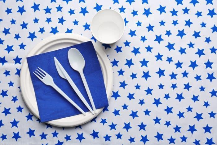 plastic tablecloth diy photo backdrop