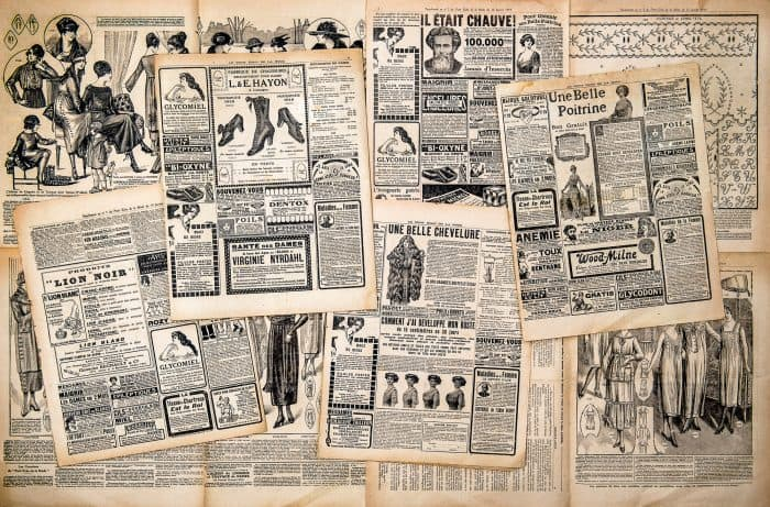 diy photo backdrop newspapers