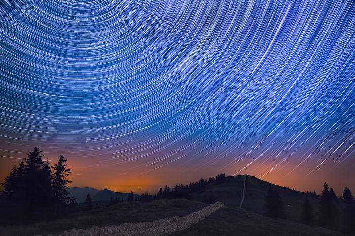 amazing star trail photo