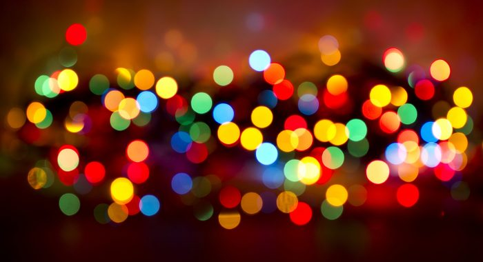 Christmas lights bokeh effect