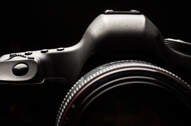 DSLR camera in low light