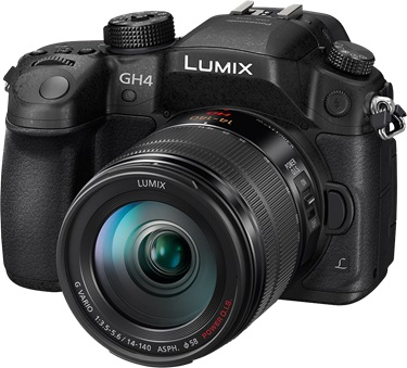 Panasonic Lumix GH4 side view