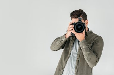 photographer posing in a rule of thirds position
