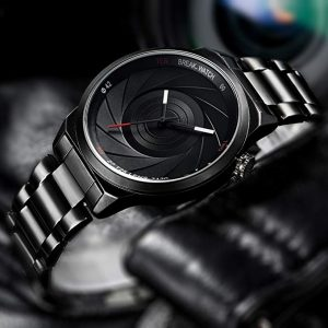 black photo watch