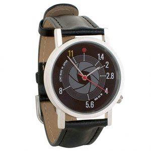 brown photo watch