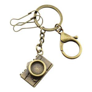 camera metal keychain