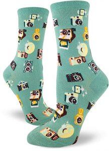 colorful camera socks